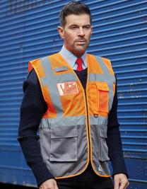 Hi-Vis Top Cool Recycled Open Mesh Executive Waistcoat